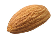 Almond on white Royalty Free Stock Photography