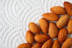 Almond on White Background Royalty Free Stock Photo