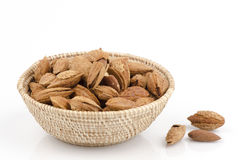 Almond on white background Royalty Free Stock Photo