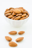 Almond in white cup. Stock Photography