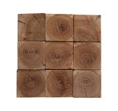 Almond wood blocks background Stock Photo