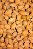 Almonds. Heap of almonds, dry fruit for mediterranean alimentation Royalty Free Stock Photo
