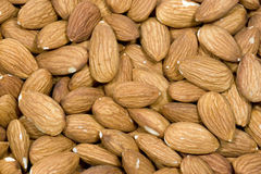 Almonds. Close up of a group of raw almonds Royalty Free Stock Photography
