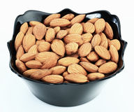Almonds. Ripe almonds on white background Stock Image