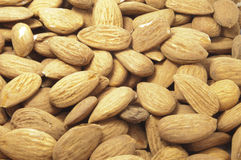 Almonds. Some almonds without a background Royalty Free Stock Photo