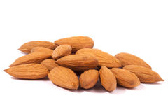 Almonds. A high resolution image of a handful of almonds Stock Photography