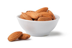 Almonds. Isolated on a white background Stock Images