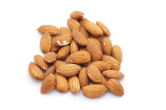 Almonds. Isolated on white background Stock Photo