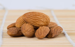 Almonds. A nice pile of natural almonds Royalty Free Stock Photo