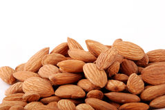 Almonds. Bunch of almonds on isolated background Royalty Free Stock Photo