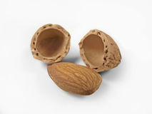 Almonds. Almond nuts food fruit nutrition Royalty Free Stock Images
