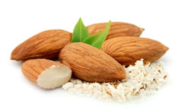 Almonds And Grated Almonds Stock Images