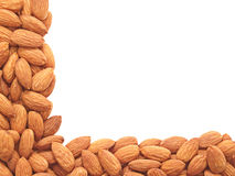 Almonds - angle. Stock Images