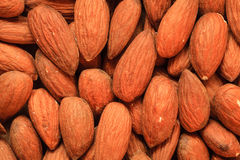 Almonds as food background Stock Photos