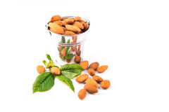 Almonds in a backet Stock Photo