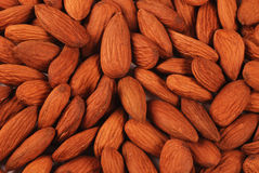 Almonds background Stock Image