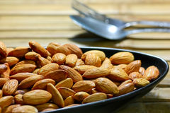 Almonds background Stock Photography