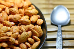 Almonds background Royalty Free Stock Image