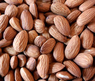 Almonds Background. Bunch of almonds Royalty Free Stock Photography