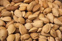 Almonds background Stock Photos