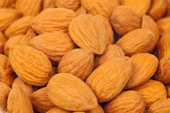 Almonds background Royalty Free Stock Photo