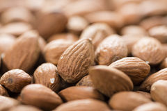 Almonds Background Image Stock Photos
