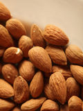 Almonds background Stock Images