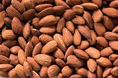 Almonds background Stock Photos