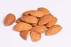 Almonds on background. Stock Photo