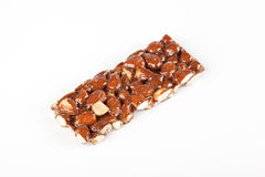 Almonds bar with honey Royalty Free Stock Photography