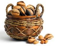 Almonds basket Stock Photography
