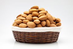 Almonds  in a basket Royalty Free Stock Photo