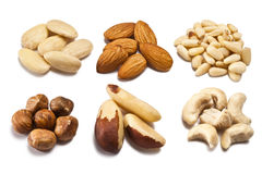 Various types of nuts Royalty Free Stock Image
