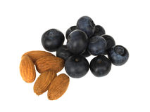 Almonds with Blueberries Stock Image