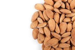 Almonds border 3 Royalty Free Stock Photos