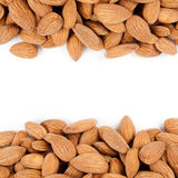 Almonds border 4 Royalty Free Stock Photography
