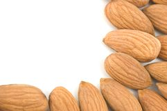 Almonds border. Stock Image
