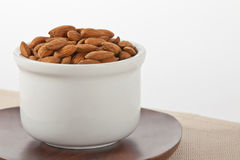 Almonds in a bowl Royalty Free Stock Photography