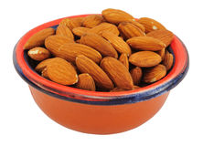 Almonds in bowl Stock Photo