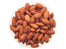 Almonds in a bowl. Royalty Free Stock Photography