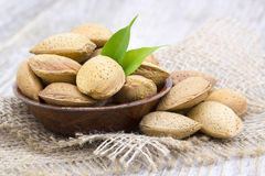 Almonds in a bowl Stock Image
