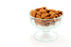 Almonds In A Bowl Stock Photo