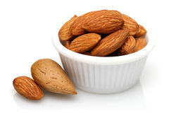 Almonds in a bowl Royalty Free Stock Photo