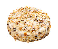 Almonds Cake Isolated On White Royalty Free Stock Photography