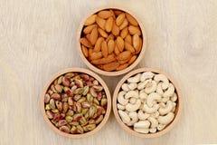 Almonds,cashew nuts, pistachio Stock Image