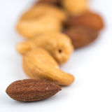 Almonds and cashew nuts Stock Photo