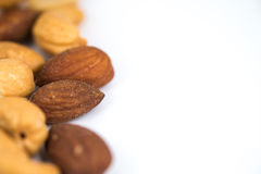 Almonds and cashew nuts Stock Image