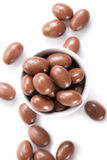 Almonds in chocolate Stock Photo