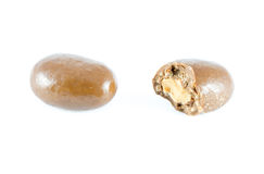 Almonds in a chocolate Royalty Free Stock Photos