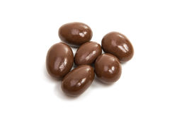 Almonds in chocolate glaze Stock Images